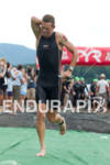 Luke Bell exits water at the 2011 Ford Ironman Lake…