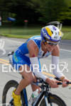 Tyler Stewart on bike at the 2011 Ford Ironman Lake…