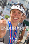 TJ Tollakson post race at the 2011 Ford Ironman Lake…