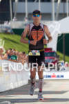 Mke Neil finishes at the 2011 Ford Ironman Lake Placid