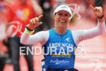 Sonja Tajsich (DEU) at the finish of the Frankfurter Sparkasse…