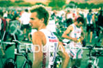 Fraser Carnell focuses in transition at the 2011 Ironman Boulder…
