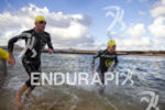Stephen Bayliss,  on the swim portion of the Ironman 70.3…