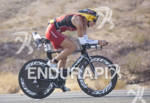 Karin Thuerig rides during Ironman 70.3 World Championships