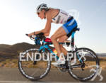 Leanda Cave (GRB) rides Pinarello during the bike portion at…
