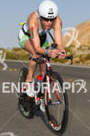Jessica Meyers (USA) on bike competing at the Ironman World…