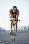 Andy Potts (USA) on the bike at the Marines Ironman…