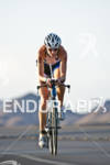 Leanda Cave (GBR) on the bike at the Marines Ironman…