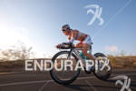 Heather Jackson (USA) on the bike at the Marines Ironman…