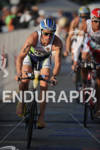 Frederick Van Lierde competing in the bike portion of the…