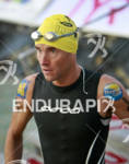 Andreas Raelert heads for the water prior to the swim…