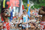 Mirinda Carfrae crosses the finish line at the 2011 Ford…