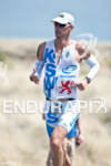 Dirk Bockel (LUX) competing in the run portion of the…