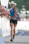 Linsey Corbin finishes the 2011 Ford Ironman Arizona