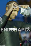 Matt Reed gets ready for the start of the  Ironman…