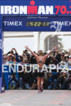 Melanie McQuade greets the media at the  Ironman 70.3 California…