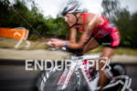 Linsey Corbin on bike at the  Ironman 70.3 California on…