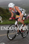 Rachel Challis climbs at the  Ironman 70.3 California on March…