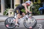 Ben Collins rounds a corner at the St. Anthony's Triathlon…