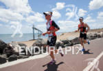 Bella Bayliss on the run portion of the 2012 Ironman…
