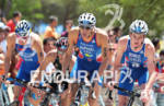 1st Jonathan BROWNLEE (GBR) leading on the bike with Aurelien…