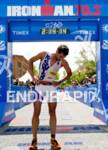 Tim O'Donnell crosses the finish line and collects himself as…