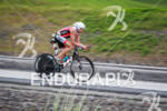 Viktor Zyemtsev races on his bike at the Ironman Coeur…