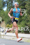 Matthew Russell on run at the Ironman Coeur d' Alene…