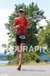 Heather Wurtele on run at the Ironman Coeur d' Alene…