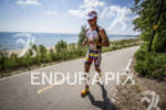 Crowie on the hill at the Ironman 70.3 Racine, in…