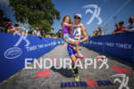 Jessica Jacobs with her daughter at the Ironman 70.3 Racine,…