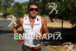 Terenzo Bozzone on run at the 2012 Ironman 70.3 Vineman…