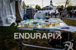 Urine tests sit on a table at the 2012 Ironman…