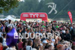 Crowds await the start of the 2012 Ironman Lake Placid…
