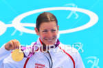Nicola SPIRIG (SUI) showing her gold medal at the 2012…