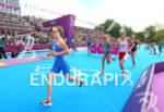 Jessica HARRISON (FRA) leaving the transition to start run at…