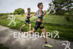 Nick Waninger and Matt Taylor on the run course at…