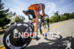 Patrick Evoe holding his first place on the bike at…
