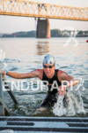 Andrew Hodges is first out of the water during the…