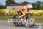 Patrick Evoe riding strong on the bike at the 2012…
