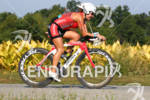 Jessica Smith on her bike at the 2012 Ironman Louisville…