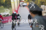 Age group triathletes on their way to the transition area…