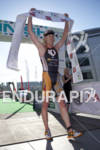 Cameron Dye celebrates his first place men's finish at the…