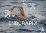 Andy Potts, 51, USA,competing in the swim at the Ironman…