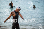 Andy Potts prepares for the swim start at the Ironman…