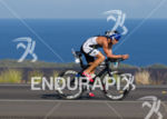Michael Lavato bikes along the Queen Kat the Ironman World…