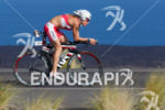 Caroline Steffen races her Cervelo P5 bike at the Ironman…