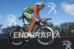Pete Jacobs bikes up to Hawi at the Ironman World…