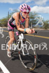 Cait Snow bikes toward Hawi at the Ironman World Championship…