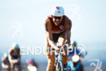 Faris Al-Sultan on the bike at the Ironman World Championship…
